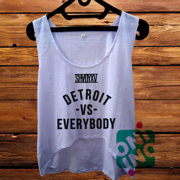 Eminem Shady Detroit vs Everybody crop tank Women's Cropped Tank Top