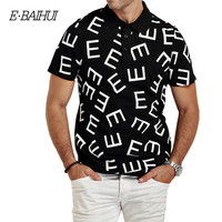 E-BAIHUI brand Summer Style Spot Mens Tenis Solid Polo Shirt Cotton Polo shirts Men Camisa PoloMen casual tops tees swag P012