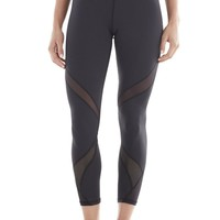 Michi Hydra Crop Leggings | Black Designer Leggings