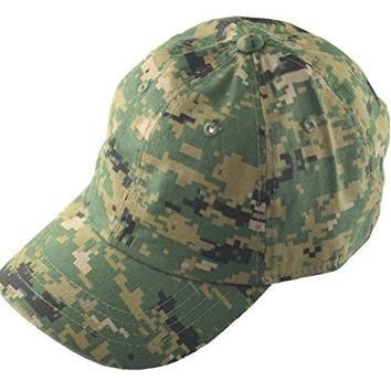 Woodland Digital Camo Vintage Polo Hat Cap Hats