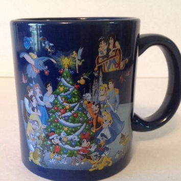 Walt Disney World Mug Happy Holidays Christmas Mickey & Minnie Mouse Coffee Tea