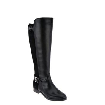Marc Fisher Black Damsel Style Wide Calf Tall Shaft Boots