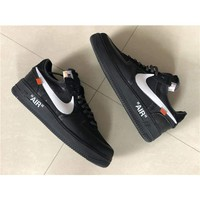 Off-White x Nike Air Force 1 Low Black #AO4606-001