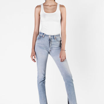 Re/Done  - The Elsa Mini Flare High Rise Jeans
