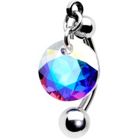 Aurora Drop Top Mount Belly Ring Created with Swarovski Crystals