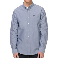 RVCA Thatll Do Blue Long Sleeve Button Up Shirt