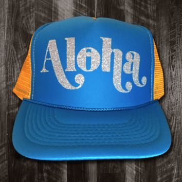 """50th State """"Aloha Scoop"""" Snapback Hat, Various Colors"""