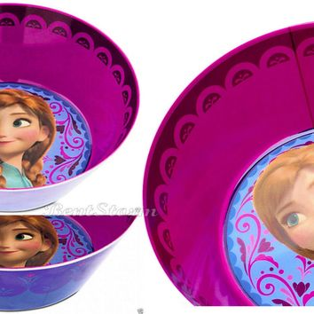 Licensed cool Disney Store FROZEN ANNA Tea Party Snack CEREAL ICE CREAM BOWL Mealtime Magic