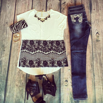 """With Style And Lace"" Top"