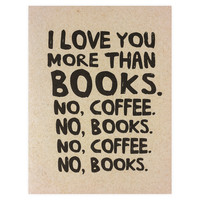 Books and Coffee Greeting Card