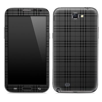 Black Plaid Skin for the Samsung Galaxy Note 1 or 2