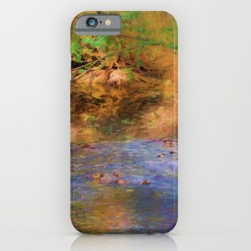 Fantasy Lake Stream iPhone & iPod Case by Theresa Campbell D'August Art