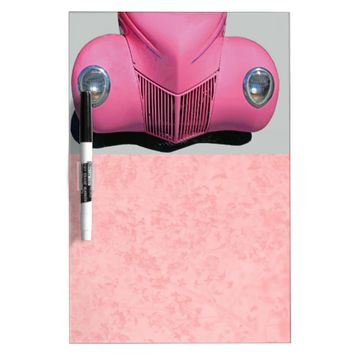Pink Car Dry Erase Board