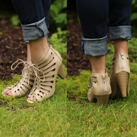 Lace Up Or Leave Booties
