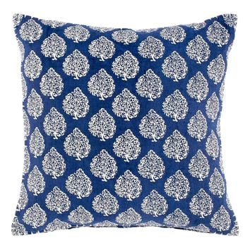 Mali Indigo Throw Pillow