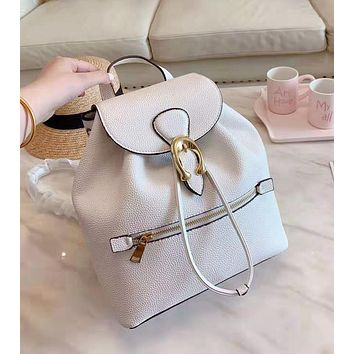 COACH High Quality Fashion Woman Leather Travel Bookbag Shoulder Bag Backpack White