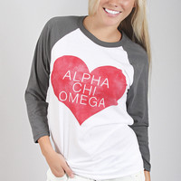 Greek Love Raglan - Alpha Chi Omega