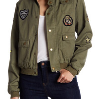 Romeo & Juliet Couture   Patched Army Jacket   HauteLook