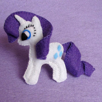 My little pony felt brooch Rarity