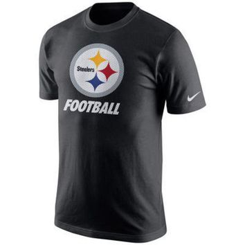 DCCKG8Q NFL  Pittsburgh Steelers Nike Black Facility T-Shirt