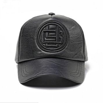 Trendy Winter Jacket XEONGKVI Autumn Winter PU Leather Baseball Caps Brand Snapback Embroidery Letters Hip-hop Hats For Women And Men Casquette AT_92_12