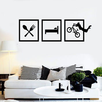 Vinyl Wall Decal BMX Bike Lifestyle Teen Room Stickers Mural Unique Gift (ig4383)