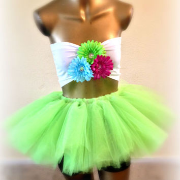 Adult tutu, mini tutu, neon green, edc outfit, rave raver tutu, party tutu, gogo dancer, adult tulle skirt