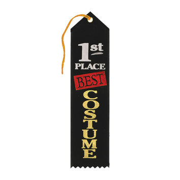 "Beistle Halloween Celebration Birthday Party Best Costume 1st Place Award Ribbon 2"""" x 8"""" Pack of 6"