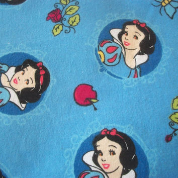 "Adorable ""SNOW WHITE"" Handmade Cotton Flannel Pillowcase Standard/Queen (Last 2)"