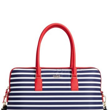 kate spade new york stripe 15 inch nylon satchel | Nordstrom