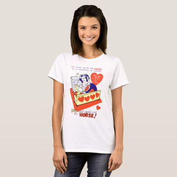 mean valentine horse face man art T-Shirt