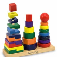 Melissa & Doug Geometric Stacking Learning Game