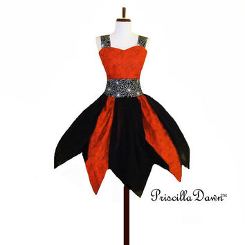 Spider Man Fire Prom Dress with Glow in the Dark Details Petal Skirt with Shoulder Straps Sweetheart Neckline