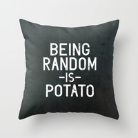 Random Throw Pillow by Vectored Life