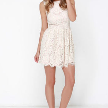Sound of Music Beige Lace Dress