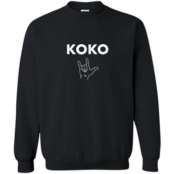 Koko I Love You- Gorilla Sign Language Tribute T-Shirt Printed Crewneck Pullover Sweatshirt