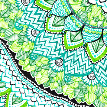 Sharpie Doodle 3 Art Print by Kayla Gordon