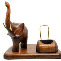 "New Wooden Pipes Stand ""ELEPHANT"" for Tobacco Smoking Pipes. Handmade Ash-Tree"