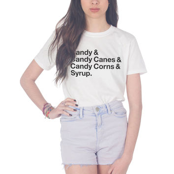 Candy Canes & Syrup Christmas T-shirt
