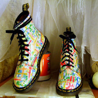Vintage Unusually Bright and Colorful Doc Martens by DejaVintaj