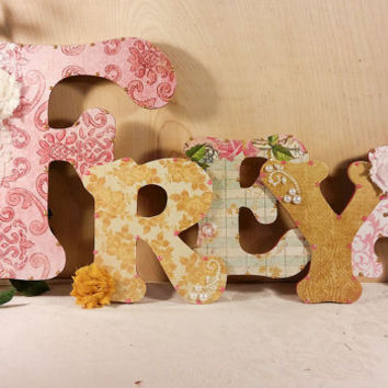 Baby Girl Nursery Decor, Custom Nursery Letters, Custom Wood Letters, Nursery Letters, Baby Room Decor, Children's Custom Nursery Decor