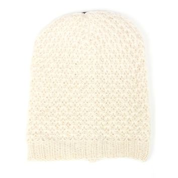 Ringlet Patterned Knit Beanie Hat