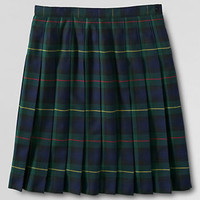Women's Plaid Pleated Skirt (Below The Knee) from Lands' End
