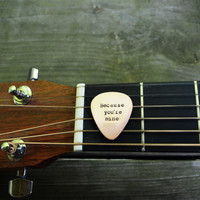 I Walk the Line Guitar Pick - Johnny Cash - Romantic - Copper - Country -  Song Quote - Guys Gift - Under 25 - For Him  - Music - Musicians