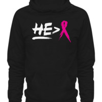 He Is Greater Than Breast Cancer Hoodie heisgreaterhoodie
