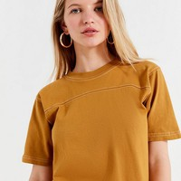 Urban Renewal Remade Contrast Stitch Crew-Neck Tee | Urban Outfitters
