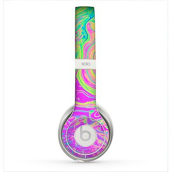 The Neon Color Fushion Skin for the Beats by Dre Solo 2 Headphones