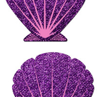 Animated Mermaid Scale Pattern Shell Pasties