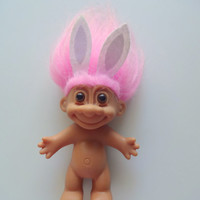 Vintage Russ Troll Easter Bunny Doll 1990
