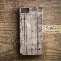 Wood iPhone 4 case - iPhone 4s case, iPhone 5 case, High quality 3D printing, Gift for men, painted, painting - cracked wood (c39)